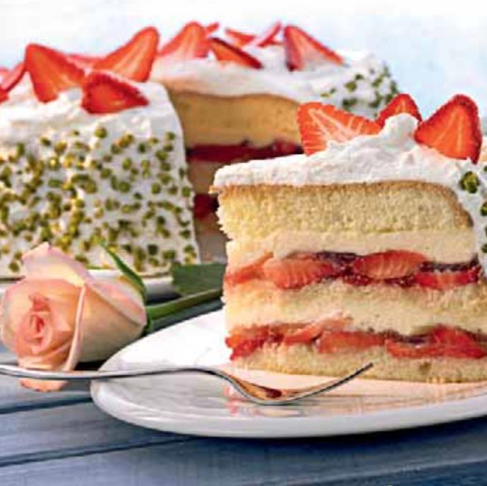 Erdbeer- Vanille- Torte