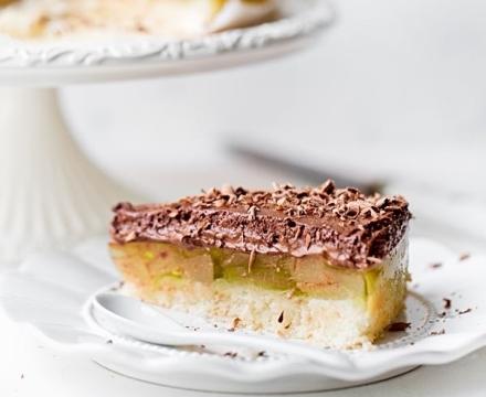 Birnentorte mit Schokoladenmus